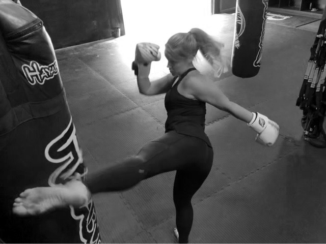 Leanne - kickboxing and weight trainer at Rogue Fitness Studio in Halifax NS